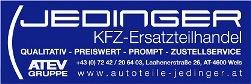 Jedinger - KFZ-Ersatzteilhandel